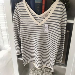 NWT LOFT Striped sweater